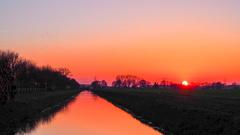 Zonsondergang 23-02-2015 #buienradar #lente #zon