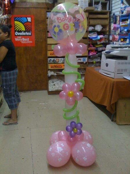 ... para tu Evento o Negocio: Columna con globos para baby shower de niña