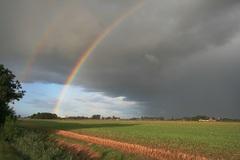 Regenboog op deze vroege ochtend: 24-08-2014) #buienradar