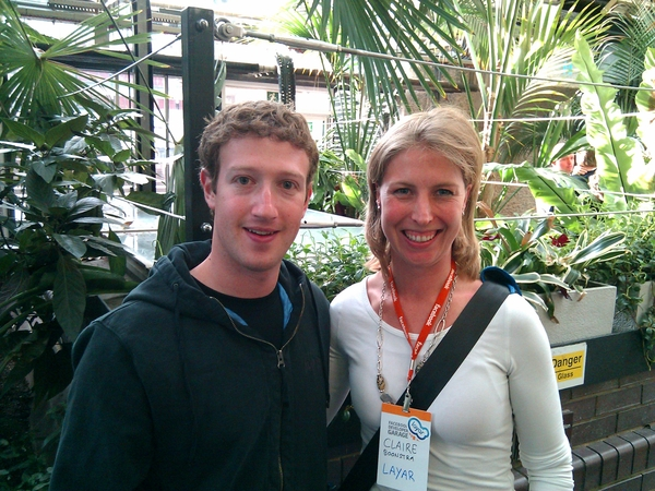 Mark Zuckerberg and Claire