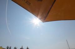Het  is  weer  tijd  voor  de  parasol. #buienradar
