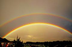 Dank  zij  de  vele regen en  onweersbuien  zagen  we  deze  maand ook  veel  regenbogen. #buienradar
