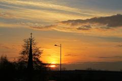 De zonsondergang in Echt mocht er ook zijn vanavond! #buienradar