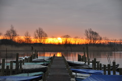 zonsopkomst op zaterdag boven zuidoost Brabant #buienradar