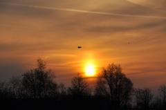 een wazig zonnetje op zondagochtend boven zuidoost Brabant #buienradar