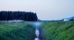 En toen was er mist na de zonsondergang!  #buienradar