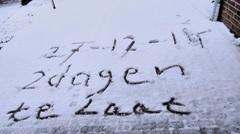 In Montfort vanmorgen toch nog een sneeuwdekje van 3 cm in 2014, helaas 2 dagen te laat. #buienradar