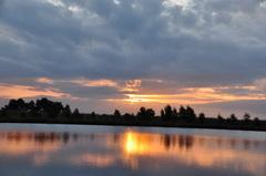de zon liet zich niet helemaal onbetuigd op zaterdagochtend boven zuidoost Brabant #buienradar