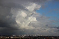 31 Januari, vanmiddag bij Rotterdam #buienradar