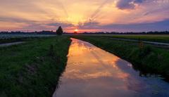 Zonsondergang 04-07 #zomer #Buienradar