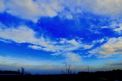 Mooi  blauw  kleurde  lucht  op 28 November. #buienradar