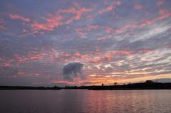mooie nakleuring op zaterdagavond boven zuidoost Brabant #buienradar