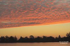 Prachtige lucht,voordat de Zon opkwam op Zondag 19 Oktober! #buienradar
