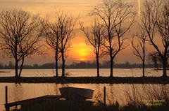 Op Zondag 12 April,een gesluierde Zonsopkomst in het Reeuwijkse Plassengebied! #buienradar