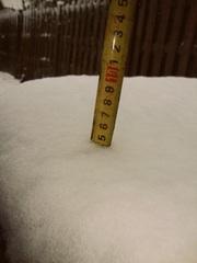 Hier haalt ie bijna de 5 cm aan #sneeuw! :) #buienradar