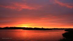 Opklaringen tijdens zonsondergang leverde mooie kleuren op #buienradar