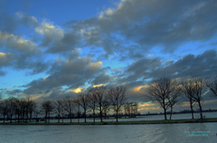 Na 17.00 uur,voor Zonsondergang,waren er mooie wolkenluchten te zien in de Gouds/Reeuwijkse regio op 7 Februari! #buienradar
