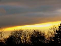 Zonsondergang  op 25 Maart  na  een  lange  regendag. #buienradar