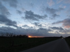 Mooi nog net een minuut voor zonsondergang op zaterdag.  #buienradar