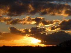 prachtige zonsondergang op 24 december #buienradar