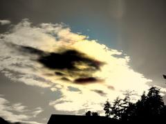 Bijna zon nog even een wolkje weg werken, #buienradar
