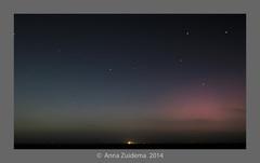 Poollicht vanaf Harlingen boven Terschelling 12-09-14 23.00  #buienradar