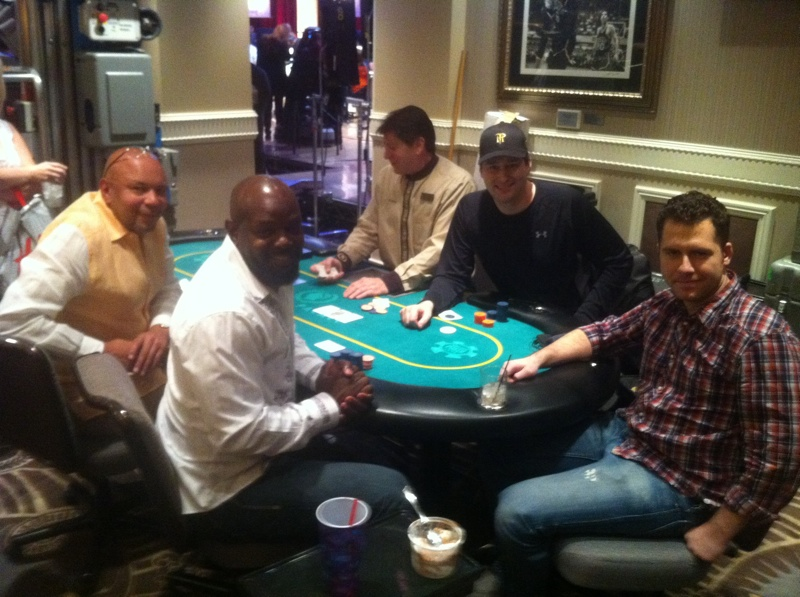 Hellmuth, Emmitt Smith, and a famous person!
