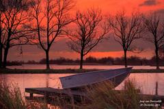 Het begon in de vroege ochtend van 20 December veelbelovend,een mooie kleuring van de lucht! #buienradar
