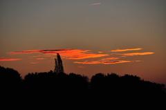 een vrijwel heldere zondagochtend boven zuidoost Brabant #buienradar