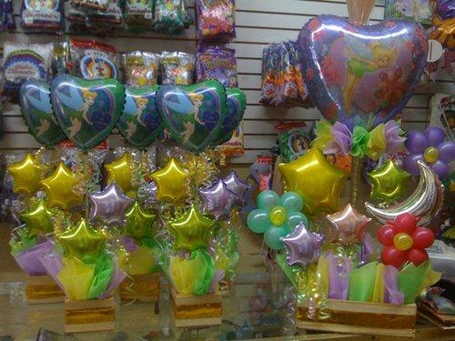 Centros de mesa con globos de Tinkerbell - Imagui