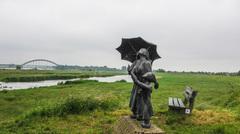 Grijs met soms een drupje, de paraplu was soms hard nodig #buienradar