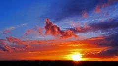 Het was een prachtig kleurenspektakel bij zonsondergang.  29-4-2016( 20.58) #buienradar
