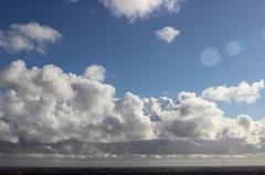 een vrolijke wolken lucht vanmiddag... #buienradar