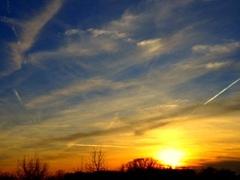 Mooie zonsondergang #buienradar