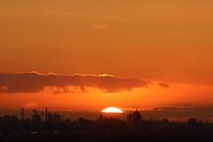 Sunrise 6.17 uur bij Rotterdam  #buienradar