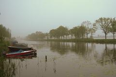 Een opening met mist en grijze lucht op Zaterdag 28 Mei,in de Gouds/Reeuwijkse regio! #buienradar