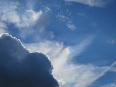 Nederweert. 20 oktober 2014. Regenboogkleuren om zon. Soort krans. #buienradar