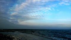 Bewolkt aan zee in Ameland  #buienradar