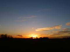 mooie zonsondergang vanmiddag 26/11 #buienradar