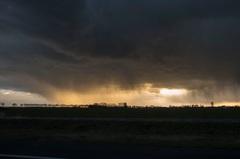 Storm en onweer bij de A2 bij Hedel 31-03-2015 #buienradar