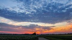 Zonsondergang 10-07-15 net buiten #TerApel #Zomer #Buienradar