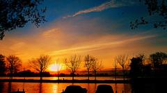 Een Orange zonsopgang op deze Koningsdag 27april..in Reeuwijk #buienradar