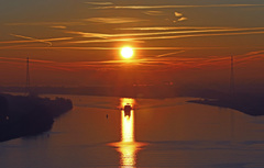 7-02-2015 zag het er zo uit met zonsopgang #buienradar