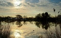 even belemmering voor de zon maar droog en weer helemaal helder en volop zon dinsdagmorgen #buienradar