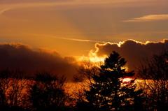 Mooie  zonsondergang  op  27 -02 #buienradar