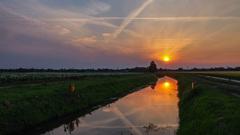 Zonsondergang 11/07 @ Hogeweg - #TerApel #Zomer #Buienradar