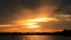 Zonsondergang 23 november #buienradar