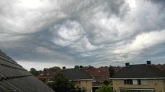 Foto genomen op 31-08-2015 rond 07:30 uur in Nijverdal, Twente. De laatste onweersbui van afgelopen nacht was net overgetrokken. #buienradar