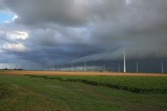 Rolwolk boven de Eemshaven (Gr)om ca 08:30  (23-08-2014) #buienradar