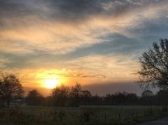 zonsopkomst en sluierwolken 1 mei #buienradar